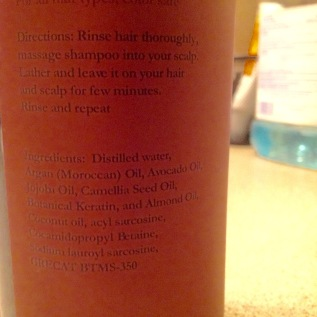 Argon Oil Shampoo Ingredients