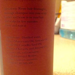 Argon Oil Shampoo Ingredients